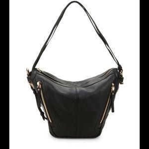 Vince Camuto Pebbled Leather Zipper Hobo Bag NWOT